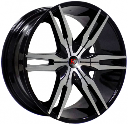 K9 319 22X9.5+30 5X112+5X120 C.B 74.10 BLACK MACHINED [K9319229523+30BM]